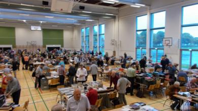 Photo of Samlere afholdte Trekantbyttet på Fredericia Gymnasium.