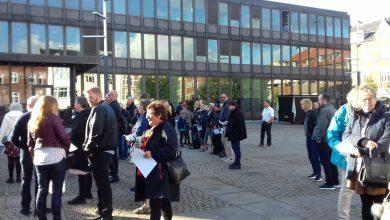 Photo of Demonstration på rådhuspladsen ved aktion systemets ofre