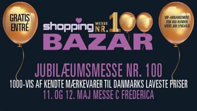 Photo of JUBILÆUMSMESSE NR. 100 ShoppingBAZAR  MESSE C FREDERICIA 11. OG 12. MAJ KL. 11-17